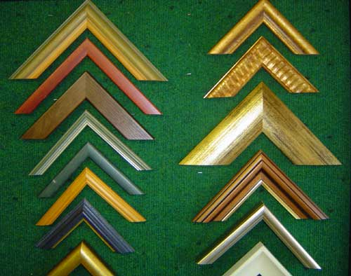 A sample of the picture frames available from Ashleagh Framing, Tuam, County Galway