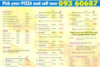 Click on image for Golden Pizza menu