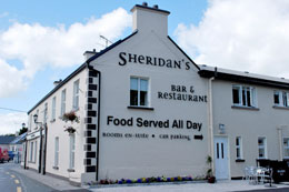 Sheridans Restaurant, Bar and Bed and Breakfast Accommodation Milltown County Galway